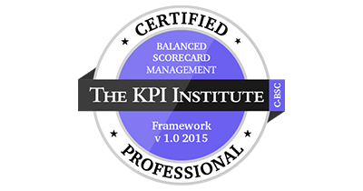 CERTIFIED BALANCED SCORECARD MANAGEMENT SYSTEM PROFESSIONAL